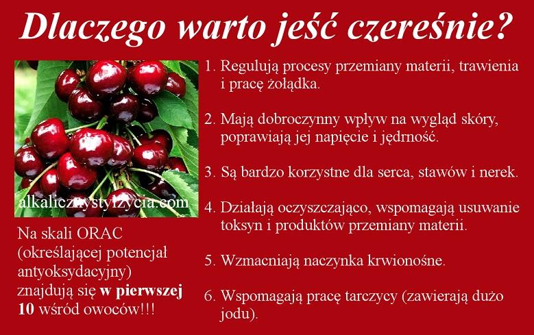 Dlaczego warto jeść czereśnie?