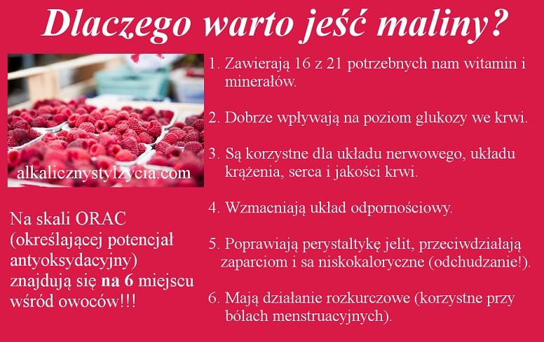 Dlaczego warto jeść maliny?